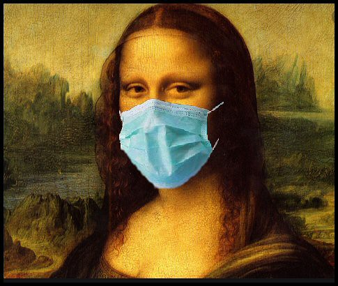 Mona Lisa with a Face Mask