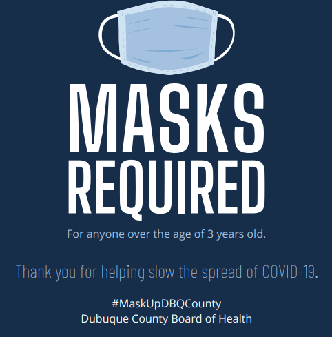 Masks Required - Blue Background (PNG)