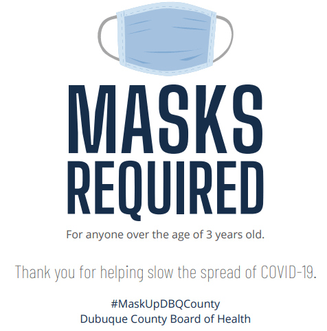 Masks Required - White Background (PNG)