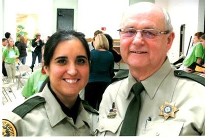 Sergeant Dick Cruse and Deputy Sara Jenaman